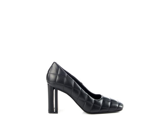 Duplex pumps in quilted black leather - Black