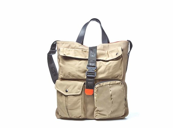 James<br />Beige multi pocket shopping bag