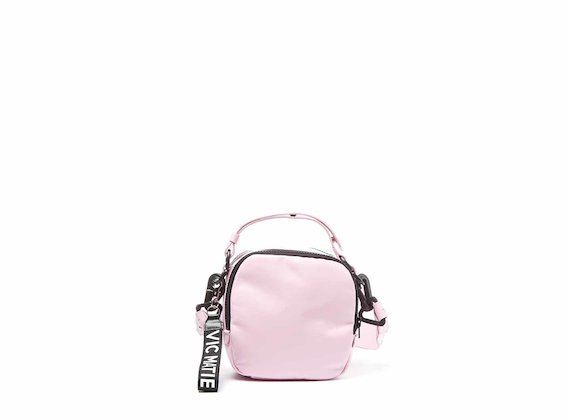 Clarissa<br />Pink mini bag with 3D strap - Pink