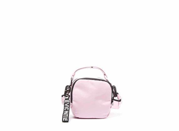 Clarissa<br />Mini sac rose avec bandoulière à relief