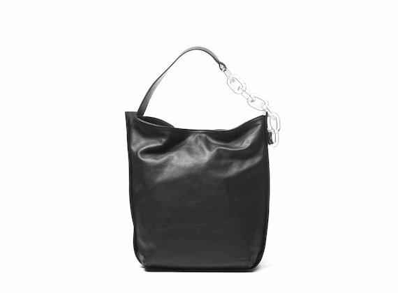 Hoshi<br />Black bucket bag with plexiglass strap