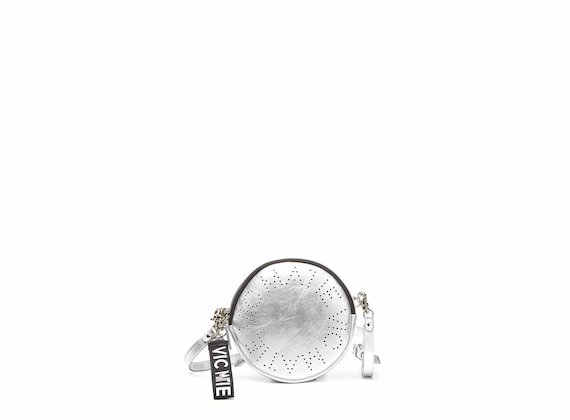 Noriko<br />Silver circle bag with openwork logo