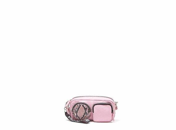 Kaila<br />Mini sac rose avec maxi poches