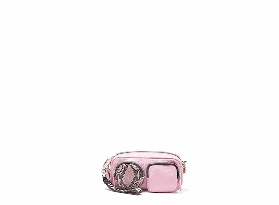 Kaila<br />Pink mini bag with large pockets
