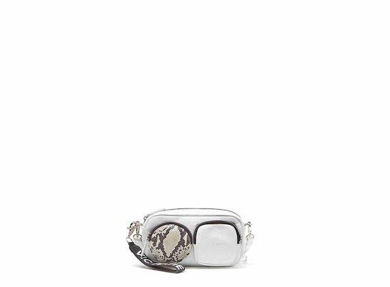 Kaila<br />White mini bag with large pockets - White