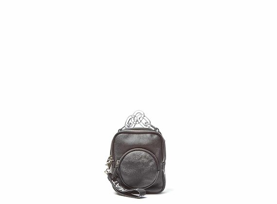 Beverly<br />Mini sac à dos noir avec poignée en plexiglas