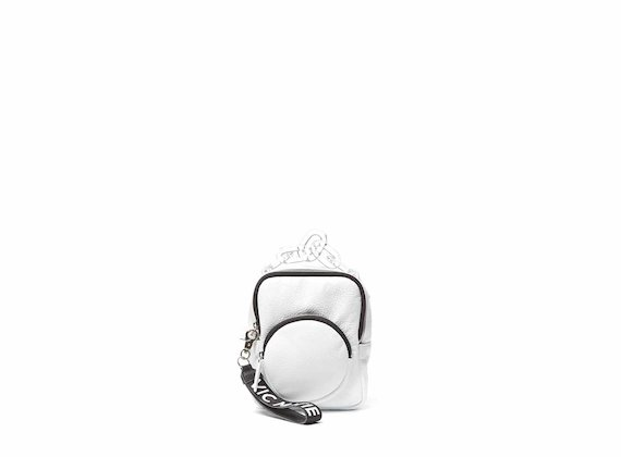Beverly<br />Mini white backpack with plexiglass handle
