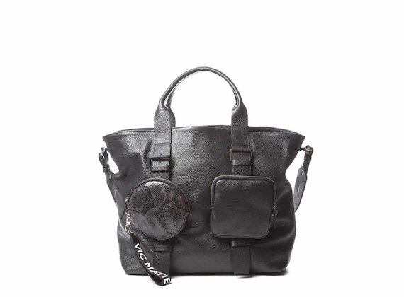 Beth<br />Black shopping bag with removable pouches