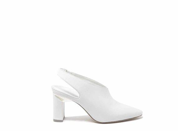 Chanel tacco spicchio bianca