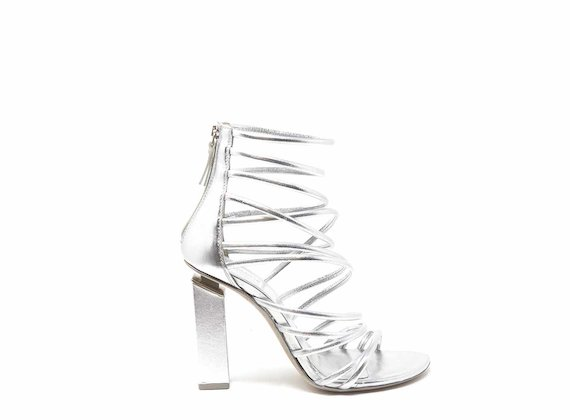 Gladiator sandals with silver strips