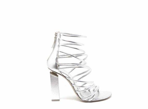 Sandalo gladiatore con mignon argento - Argento