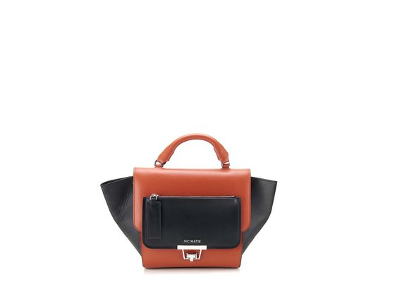 Ginevra<br> satchel in red calfskin