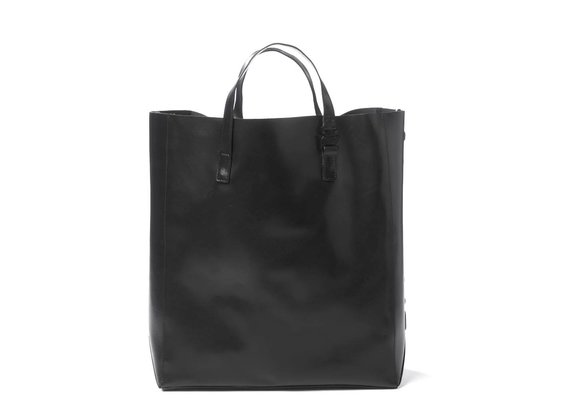 Lexy<br> black shopper with large 3D logo