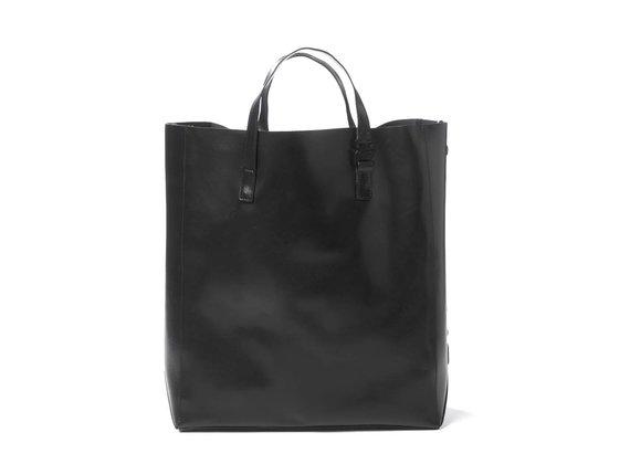 Lexy<br>Cabas noir avec grand logo en relief