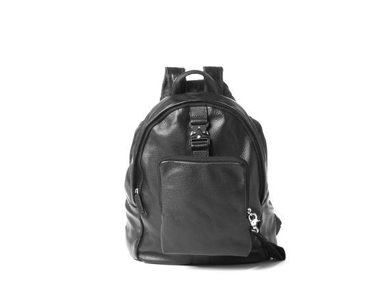 Noah<br> black backpack with laptop pouch.