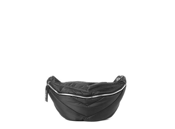 Egle<br> large black quilted waist bag