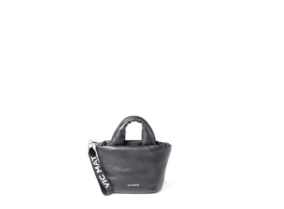 Ruth<br> padded black leather mini bag