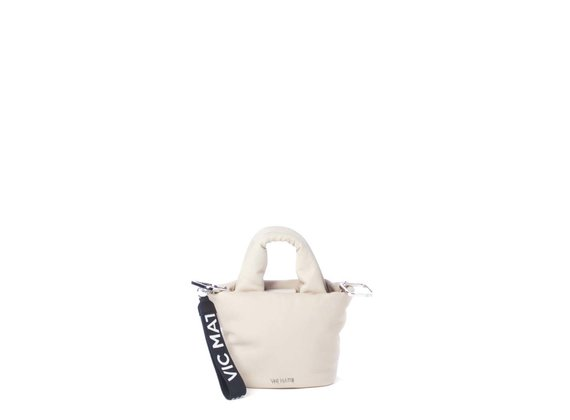 Ruth<br> padded nude-beige leather mini bag