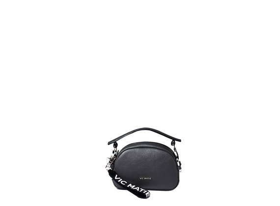 Babs Small<br> black mini bag with rings.