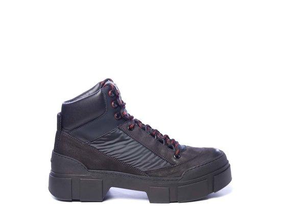 Chaussure de marche pour homme en nubuck et tissu noir