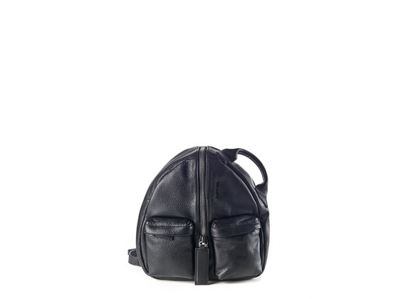 Aiko<br />Black leather backpack