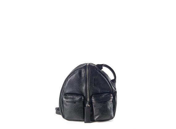 Aiko<br />Rucksack aus schwarzem Leder