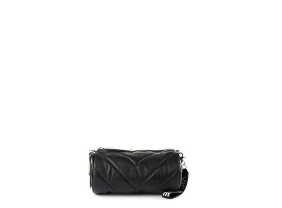 Deva Big<br />Black leather barrel bag