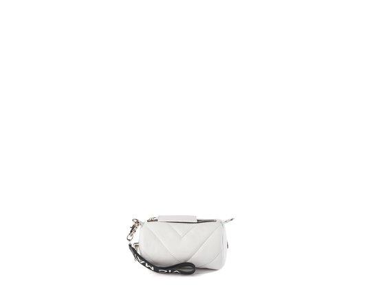 Deva Small<br />Mikroetui aus weißem Leder
