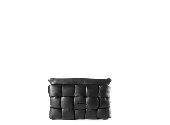 Kaori<br />black leather clutch