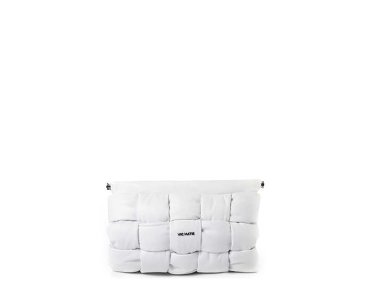 Kaori<br />Pochette aus weißem Leder