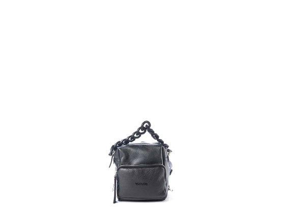 Angy<br />Mini black square-shaped backpack - Black