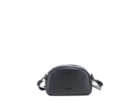 Babs Big<br> Black leather bag - Black