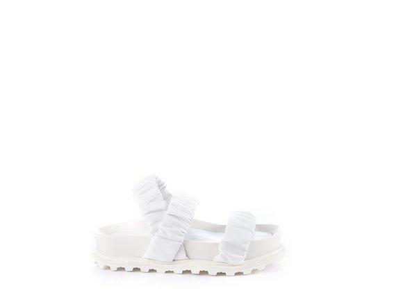 Sandale Fussbett blanche à 3 brides - Blanc
