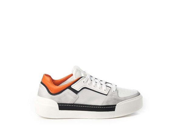Men's white and orange sneakers