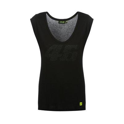 Tee-shirt noir46 ton sur ton pour femme