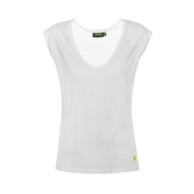 T-shirt 46 tone on tone donna bianco
