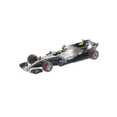 Mercedes AMG Petronas F1 1/43 Valentino Rossi ride swap Valencia 2019
