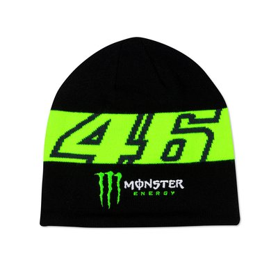 Dual 46 Monster Energy beanie cap - Black