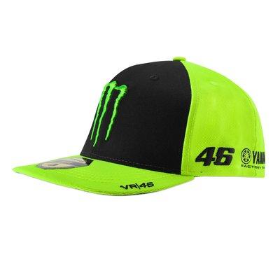 Casquette sponsor mid visor - Jaune Fluorescent