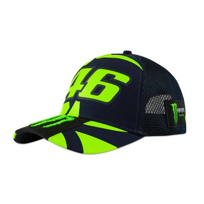 Cappellino trucker replica 46 Monster Energy - Blu