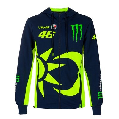 Felpa replica 46 Monster Energy - Blu