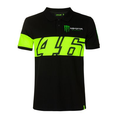 Dual 46 Monster Energy polo shirt - Black