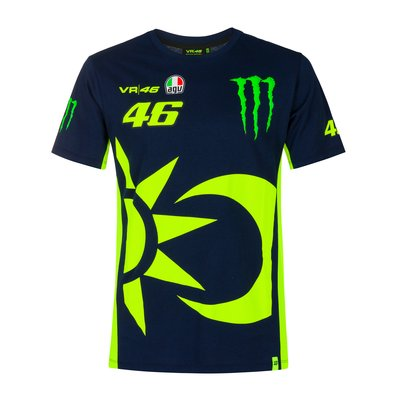T-shirt replica 46 Monster Energy - Blu