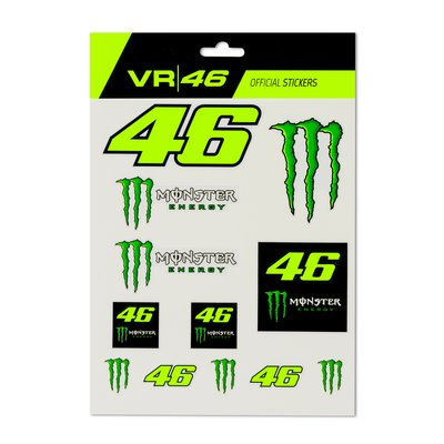 Set adesivi 46 Monster Energy grande - Multicolor