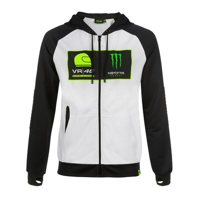 Sweatshirtjacke VR46 Riders Academy Monster - Weiß