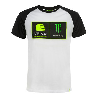 T-shirt maniche raglan VR46 Riders Academy Monster - Bianco