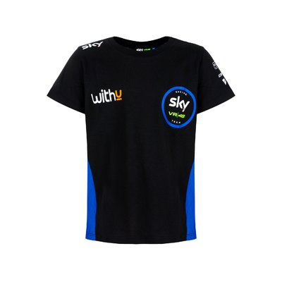 T-shirt replica Sky Racing Team VR46 bimbo - Nero