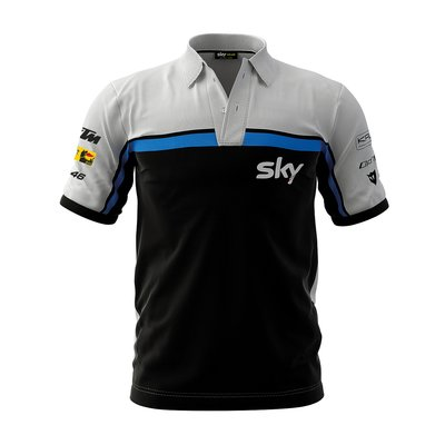 Poloshirt Replik Rennen Sky Racing Team VR46