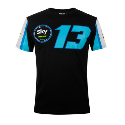 T-Shirt Replik Sky Racing Team VR46 Vietti - Schwarz