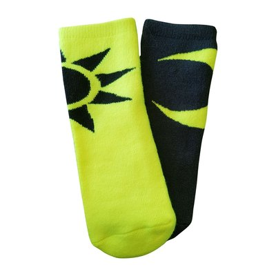 Sun and Moon baby socks